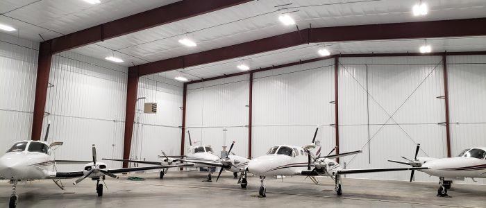 charter fleet in hangar